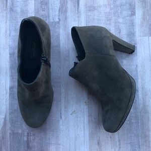 Paul Green Grey Suede Ankle Zipper Boots UK Size 4